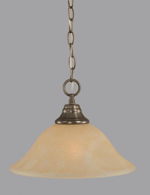 1 Light Amber Pendant Light-10-BN-523 by Toltec Lighting