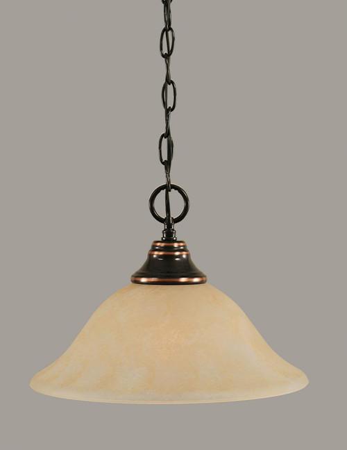 1 Light Amber Pendant Light-10-BC-523 by Toltec Lighting