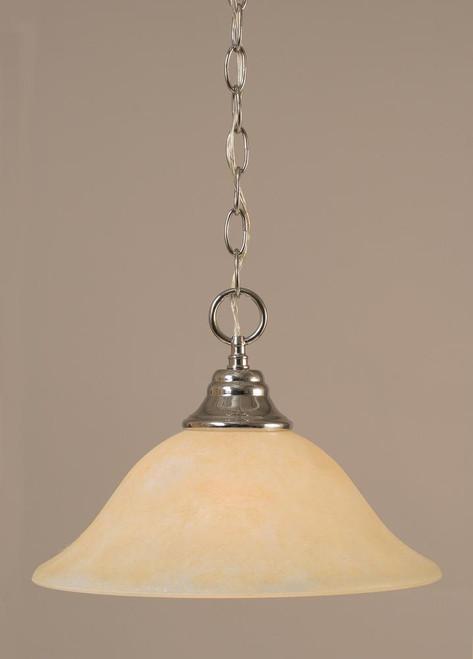 1 Light Amber Pendant Light-10-CH-523 by Toltec Lighting