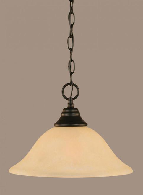 1 Light Amber Pendant Light-10-MB-523 by Toltec Lighting