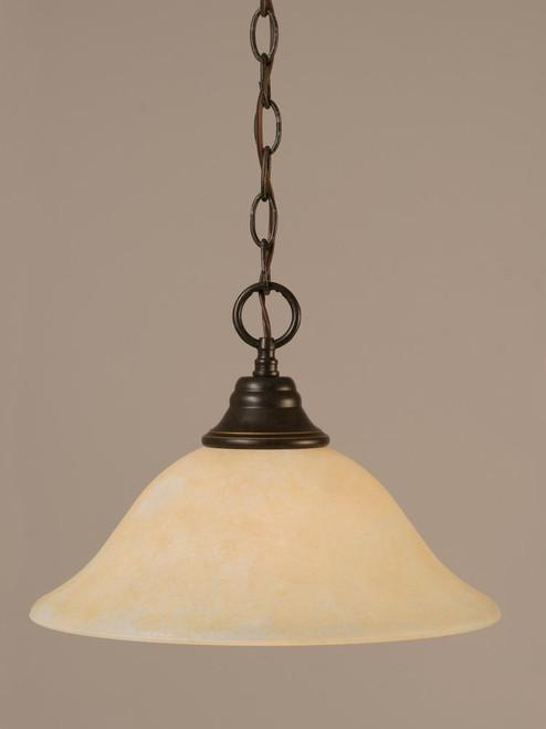 1 Light Amber Pendant Light-10-DG-523 by Toltec Lighting