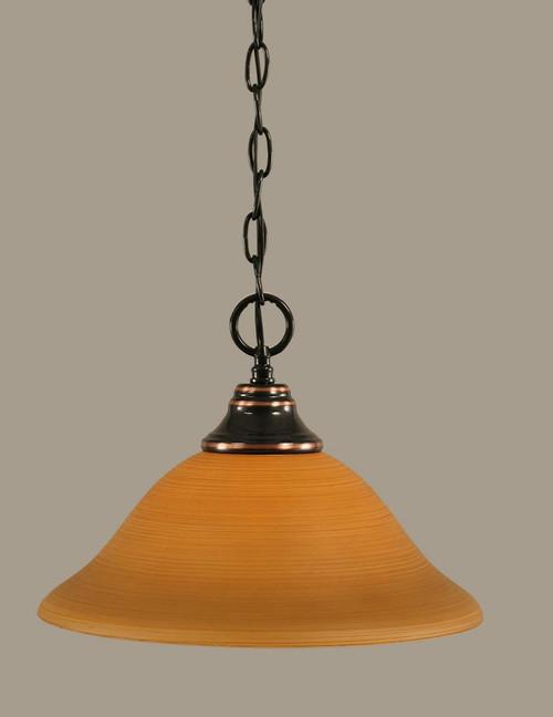 1 Light Tan Pendant Light-10-BC-624 by Toltec Lighting