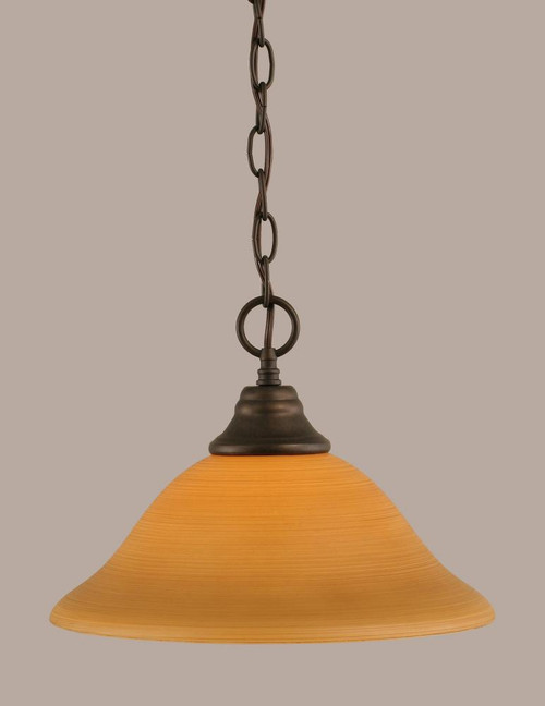 1 Light Tan Pendant Light-10-BRZ-624 by Toltec Lighting