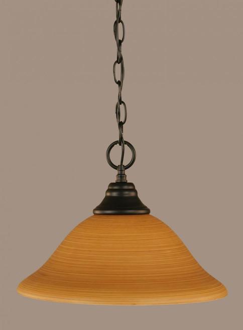 1 Light Tan Pendant Light-10-MB-624 by Toltec Lighting