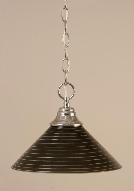 1 Light Rust Pendant Light-10-CH-442 by Toltec Lighting