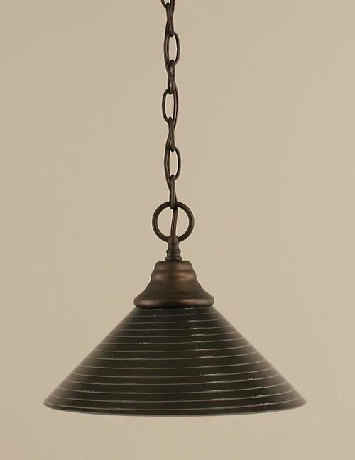 1 Light Rust Pendant Light-10-BRZ-442 by Toltec Lighting