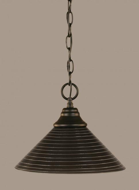 1 Light Rust Pendant Light-10-MB-442 by Toltec Lighting