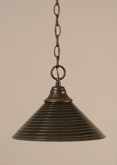 1 Light Rust Pendant Light-10-DG-442 by Toltec Lighting