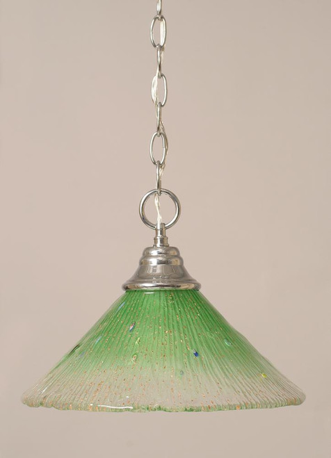 1 Light Green Pendant Light-10-CH-447 by Toltec Lighting