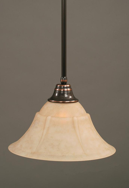 1 Light Beige Pendant Light-26-BC-53318 by Toltec Lighting