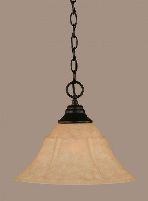 1 Light Beige Pendant Light-10-MB-53318 by Toltec Lighting