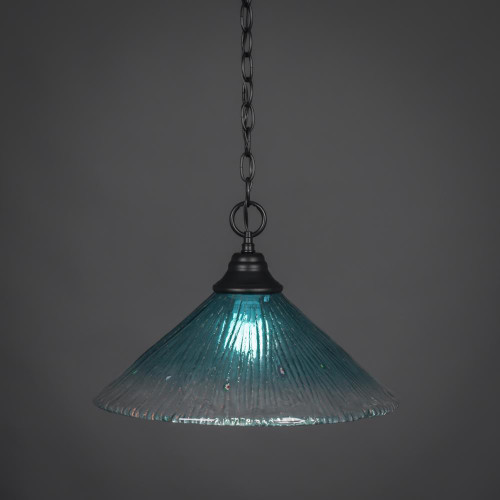 1 Light Blue Pendant Light-10-MB-715 by Toltec Lighting