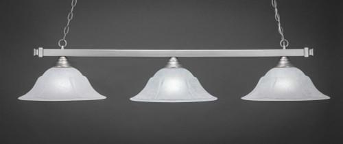 Square 3 Light White Pendant Light-803-BN-53615 by Toltec Lighting