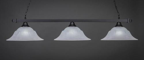 Square 3 Light White Pendant Light-803-MB-53615 by Toltec Lighting