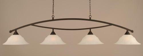 Bow 4 Light White Pendant Light-874-DG-53615 by Toltec Lighting