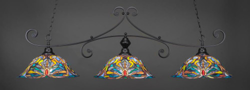 Curl 3 Light Multi Colored Pendant Light-353-MB-990 by Toltec Lighting