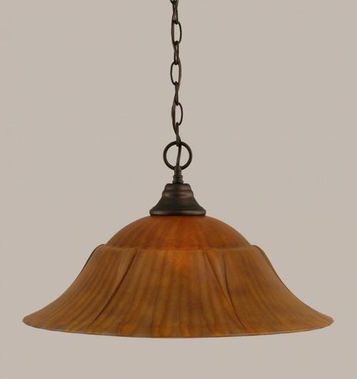 1 Light Rust Pendant Light-10-BRZ-53819 by Toltec Lighting