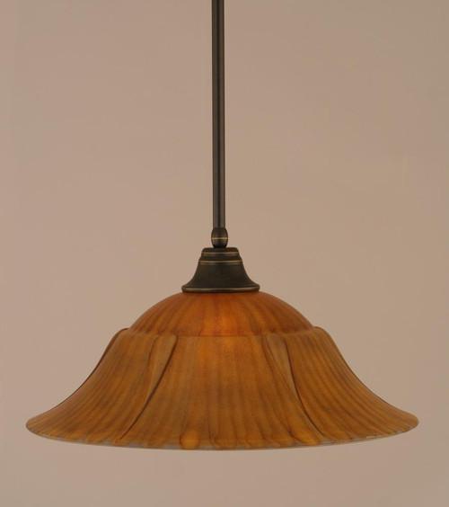 1 Light Rust Pendant Light-26-DG-53819 by Toltec Lighting