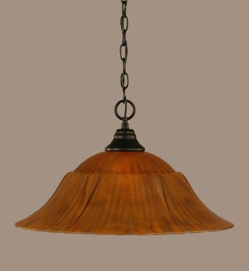 1 Light Rust Pendant Light-10-MB-53819 by Toltec Lighting