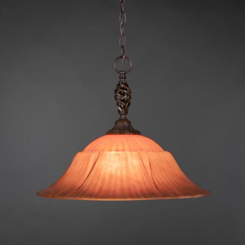 Elegante 1 Light Rust Pendant Light-82-DG-53819 by Toltec Lighting