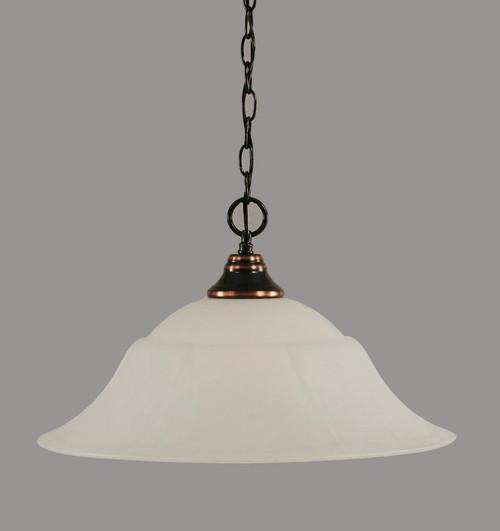 1 Light White Pendant Light-10-BC-53815 by Toltec Lighting