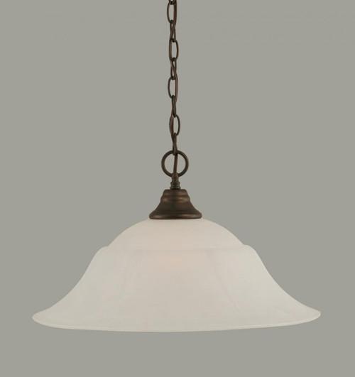1 Light White Pendant Light-10-BRZ-53815 by Toltec Lighting