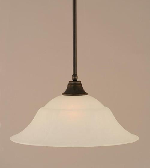 1 Light White Pendant Light-26-DG-53815 by Toltec Lighting
