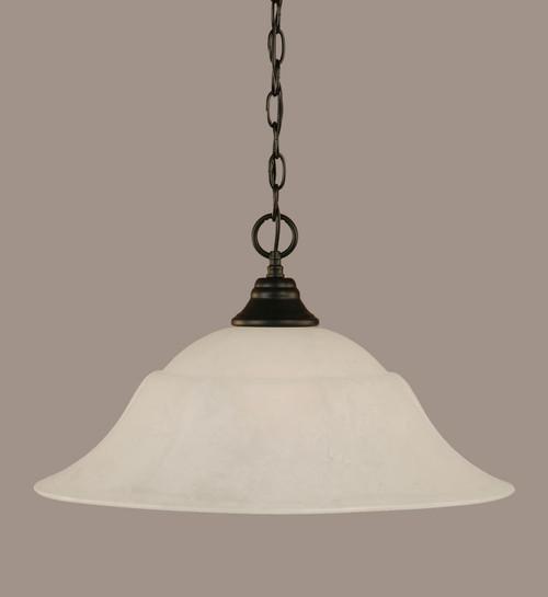 1 Light White Pendant Light-10-MB-53815 by Toltec Lighting
