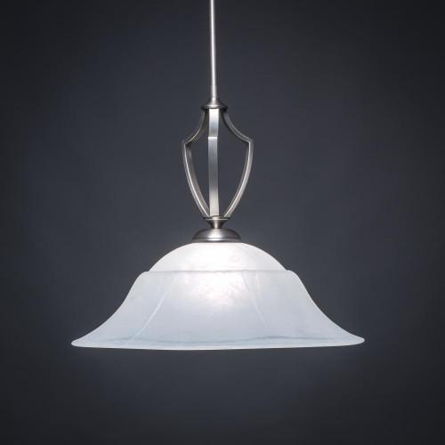 Zilo 1 Light White Pendant Light-562-GP-53815 by Toltec Lighting