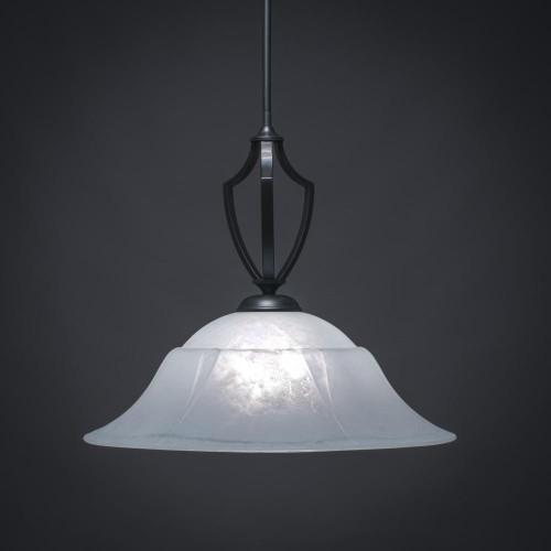 Zilo 1 Light White Pendant Light-562-MB-53815 by Toltec Lighting