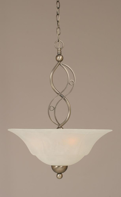 Jazz 3 Light White Pendant Light-234-BN-53815 by Toltec Lighting