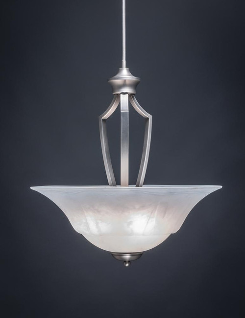 Zilo 3 Light White Pendant Light-567-GP-53815 by Toltec Lighting