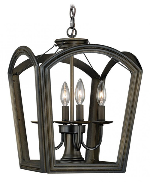 Canterbury 4 Light Bronze Pendant Light-P0032 by Vaxcel Lighting