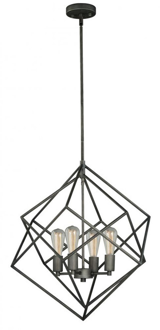 Rad 4 Light Pewter Pendant Light-P0187 by Vaxcel Lighting