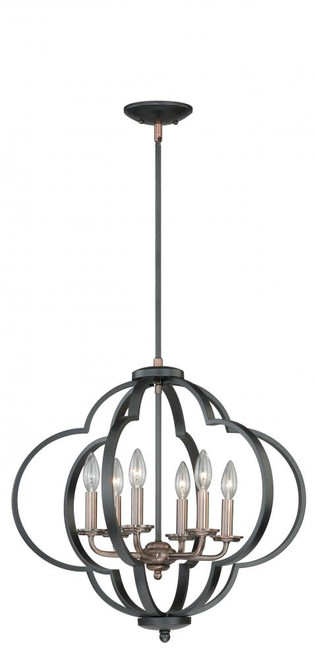 Amory 6 Light Copper Pendant Light-P0186 by Vaxcel Lighting