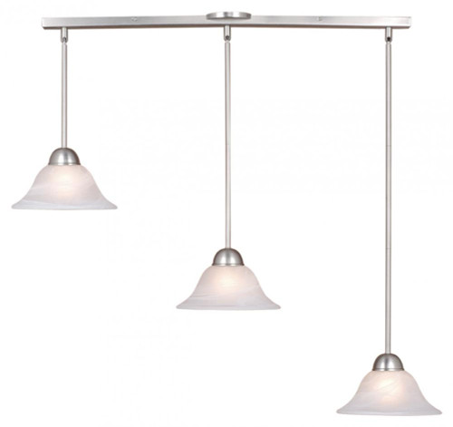 Da Vinci 3 Light Alabaster Pendant Light-PD5027BN by Vaxcel Lighting