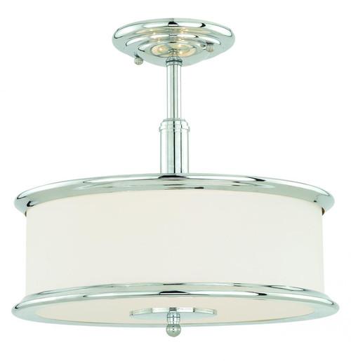 Carlisle 3 Light Opal Pendant Light-C0099 by Vaxcel Lighting