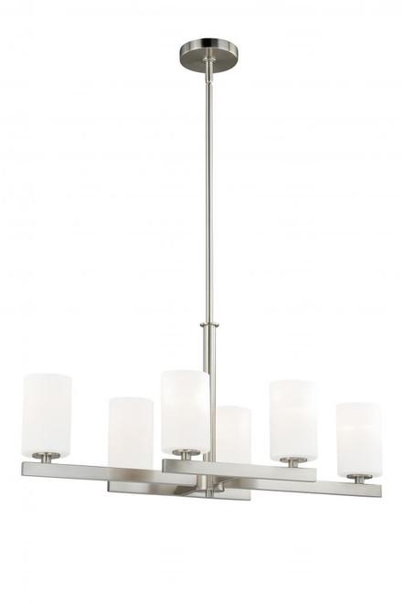 Glendale 6 Light Opal Pendant Light-P0127 by Vaxcel Lighting