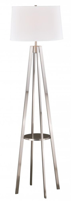 Perkins Satin Nickel Floor Lamp-L0008 by Vaxcel