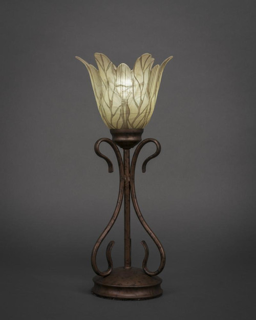 Swan Bronze Table Lamp-31-BRZ-1025 by Toltec