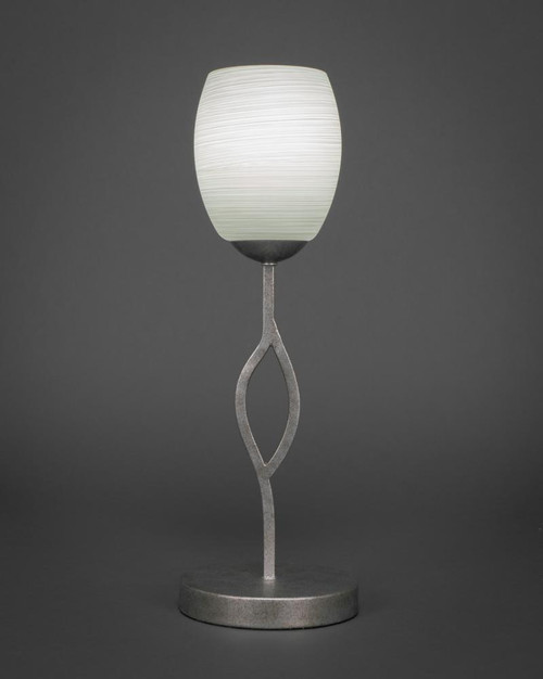 Revo Aged Silver Table Lamp-140-AS-615 by Toltec