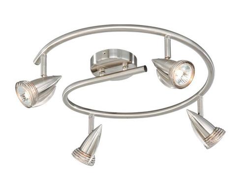Garda 4 Light Line Voltage Spiral Spot Light Kit Satin Nickel-SP34118SN by Vaxcel