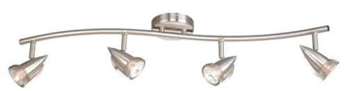 Garda 4 Light Line Voltage Spot Light Kit Satin Nickel-SP34114SN by Vaxcel