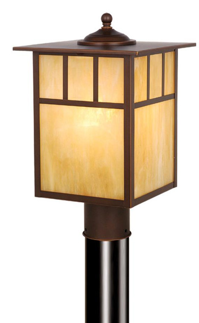 Mission 9 Inch Outdoor Post Light Burnished Bronze-OP37295BBZ by Vaxcel