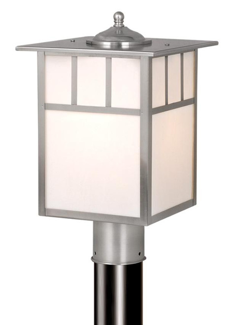 Mission 9 Inch Outdoor Post Light Stainless Steel-OP14695ST by Vaxcel