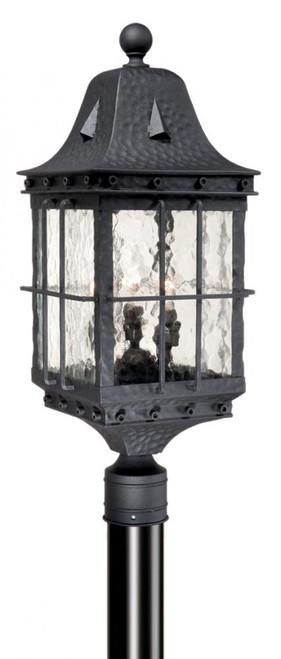 Edinburgh 9 Inch Outdoor Post Light Textured Black-ED-OPU090TB by Vaxcel