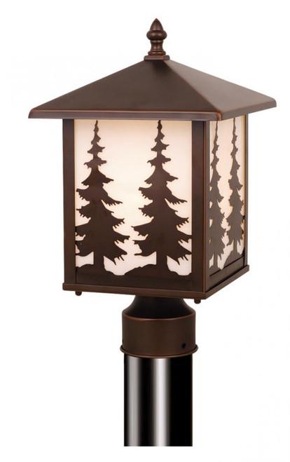Yosemite 8 Inch Outdoor Post Light-OP33485BBZ by Vaxcel