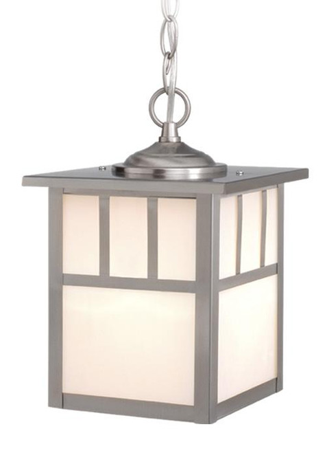 Mission Stainless Steel Outdoor Pendant Light-OD14676ST by Vaxcel Lighting