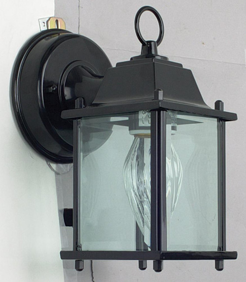 7-3/4 Inch Cast Aluminum With Black-F7802-31 by Sunset Lighting
