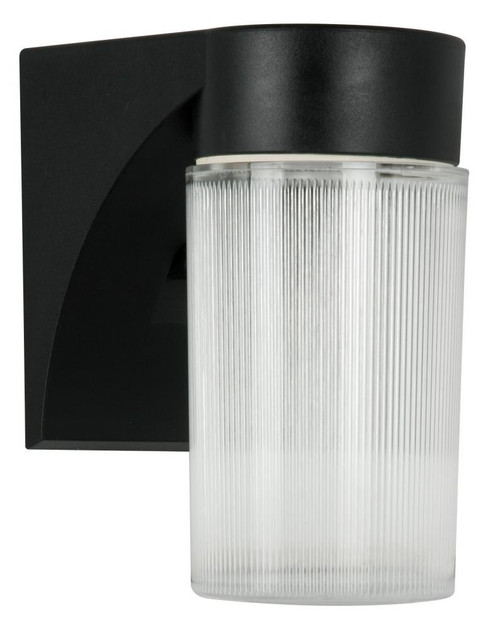 8-1/2 Inch 13W Poly Ext Withclr Rbd Acr Lns Black-F4512-31 by Sunset Lighting